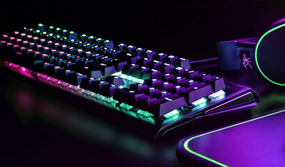 Herní klávesnice: Mechanické spínače aRGB podsvícení
