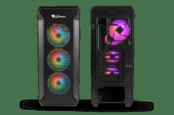 PC skříň Genesis Irid 505 sefektním ARGB podsvícením