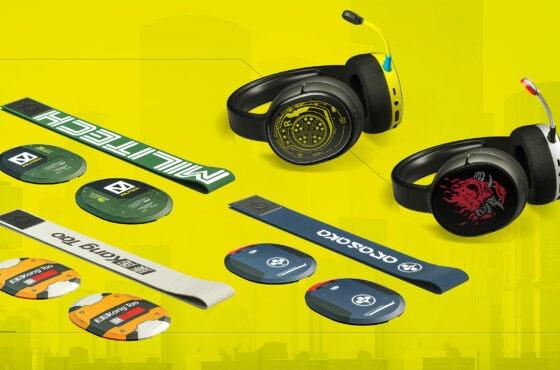 Limitovaná edice headsetů SteelSeries smotivy hry Cyberpunk 2077