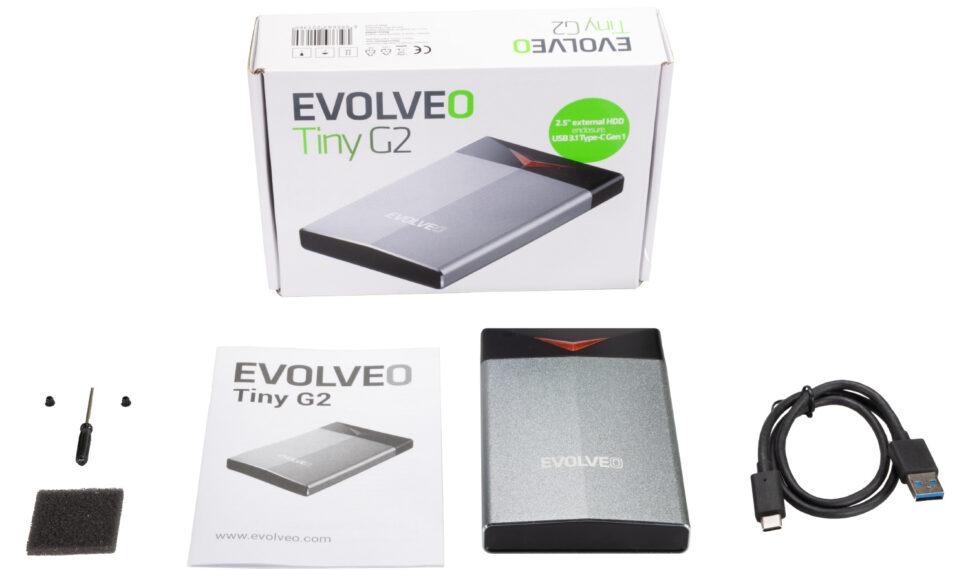 Rámečky EVOLVEO Tiny G1 aG2 pro rychlý externí disk SATA SSD