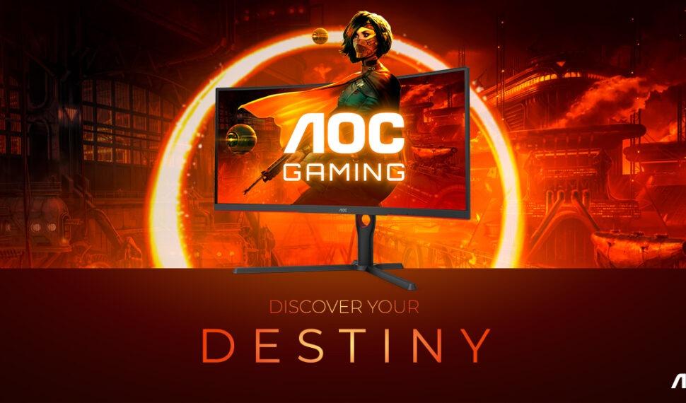 Monitory řady AOC GAMING G3 přinášejí 165 Hz azakřivení 1000R